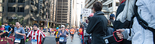 Bank of America Chicago Marathon spectators