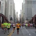 LaSalle St. Bridge Runners crossing the LaSalle St. Bridge