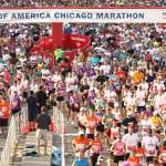 Runners crossing the Start Line Runners crossing the Start Line