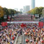 Start of Race The start of the 2008 Bank of America Chicago Marathon