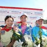Top 3 Women's Finishers 2008 Top 3 Women's Finishers Kiyoko Shimahara, Lidiya Grigoryeva and Alevtina Biktimirova