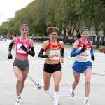 Women's Elite Athletes Elite Athletes Liliya Shobukhova, Irina Mikitenko, Lidiya Grigoryeva and Teyba Erkesso
