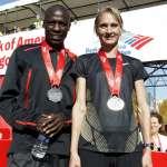 Marathon Champions 2011 Bank of America Chicago Marathon Champions Moses Mosop and Liliya Shobukhova