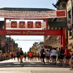China Town Getting closer to the finish, participants enter Chinatown through the Chinatown Gate.