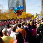Final Stretch In the final stretch, spectators cheer on participants as they reach the Roosevelt Overpass.