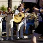 Mariachi Band A Mariachi Band plays for participants as they run through Pilsen, Chicago's largest Latino community.