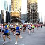 Marina Towers Between Mile 1 and 2 participants pass Chicago's famous Marina Towers.