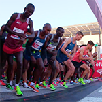 elite athletes at the start line