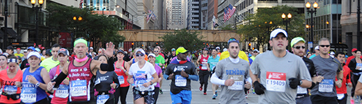 Bank of America Chicago Marathon runners