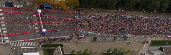 Bank of America Chicago Marathon Start line