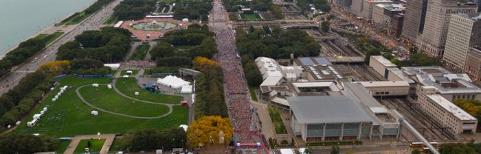 Grant Park on race day