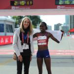 Brigid Kosgei and Paula Radcliffe