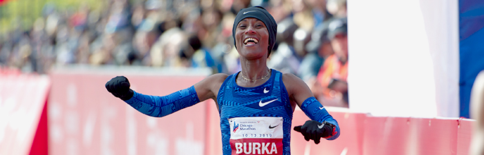 Burka Finishing the race