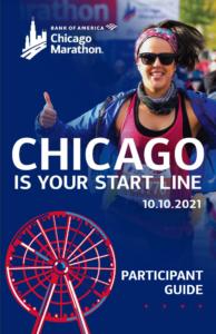 2021 Bank of America Chicago Marathon participant guide cover